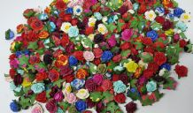 2.0cm ASSORTED COLOUR Mulberry Paper Roses (only flower head)